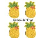UNCUT Pineapple felt applique embellishment feltie hair bow center (4)