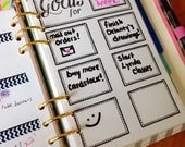 Goal Planning - PLANNER INSERT - Planner insert for small, Medium/Personal and Large Planners Filofax or personal Kikki K
