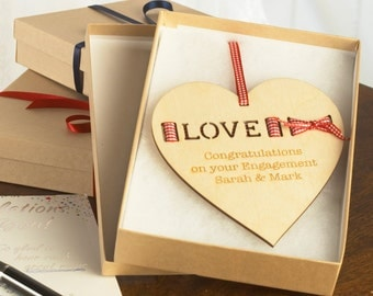 Personalised Wedding Love Heart, Special Occasion Boxed Gift, Bride and Groom, Anniversary, Birthday Present