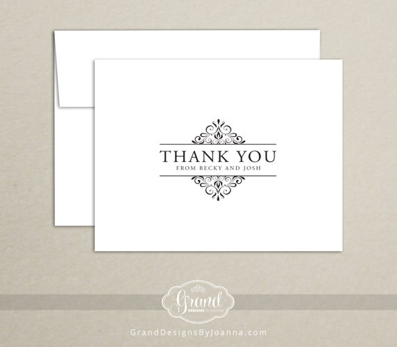 Elegant, Classic Note Card Set - Thank You Cards (Set of 10)