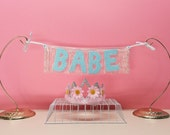 Babe Glittering Fringe Banner | garland, banner, dorm decor, party decor, photobooth prop, wall hanging, party banner, besties gifts