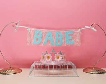 Babe Glittering Fringe Banner | wall hanging, glitter banner, dorm decor, party decor, party banner, besties gifts, babe banner, sign