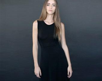 Black maxi dress / long summer dress / viscose casual dress / SALE