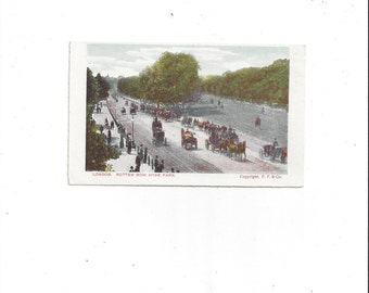 1904-1916 Vintage Postcard of Rotten Row, Hyde Park, London, England, F. Frankel, Hand Colored, Half Tone, Unposted, Vintage British London