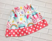Girls Unicorn Skirt 2T Ready to Ship Boutique Clothing By Lucky Lizzy's