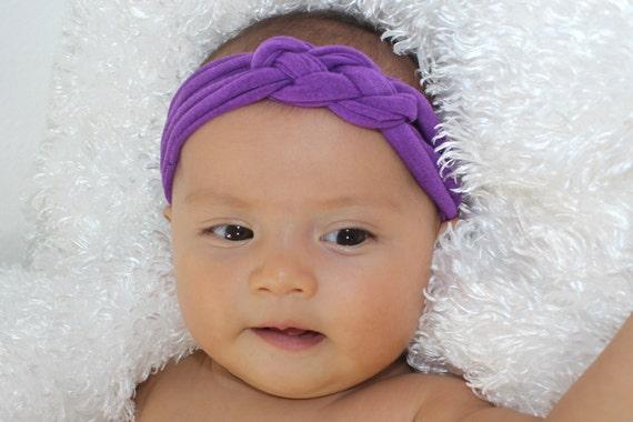 Toddler Headband, Baby Knot Headband, Celtic Knot Headband, Braid Headband, Toddler Headband, Purple Headband, Infant Headbands