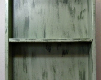 Distressed Green Cabinet
