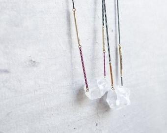 jewellery gemstone necklace . jewellery raw stone necklace jewellery quartz necklace minimal jewellery . raw gemstone . milky white