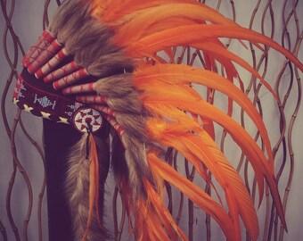 Indian Sunset  Feather Headdress