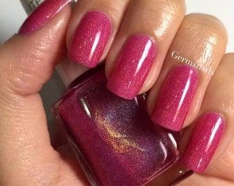 Nail Polish - Dystopia- Holographic Pink Jelly Nail Polish