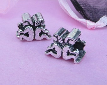 European Charm Bead For All Large Hole Charm Bracelet And Necklace Chain. Couple (Back to Back)