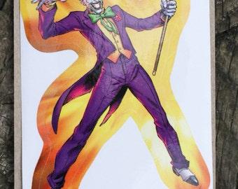 DC Comics Justice League Of America JOKER Sticker, Comic Book, Superheroes, Collectible, Scrapbooking, Stickers, Villian