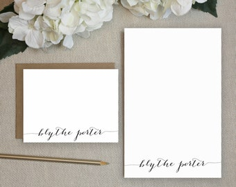 Personalized Notepad + Stationery Gift Set. Personalized Notepad. Personalized Stationery. Notepad. Stationary. Gift Set. Classic Script.