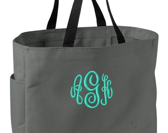 Monogrammed Tote Bag 18 colors available