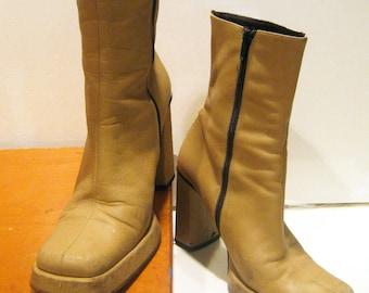 Charles David platform boots 6.5