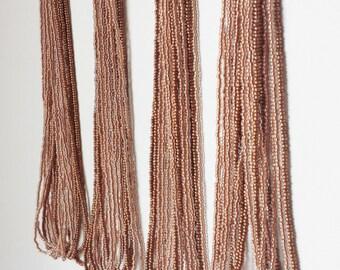 Bridesmaid Copper necklace, earth tones necklace, brown necklace, multistrand, wedding necklace, statement necklace, bridesmaid gift,bridal