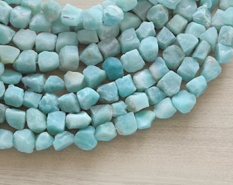 5 pcs of Good Quality Natural Amozonite Rough Nugget Beads