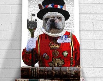Beefeater English Bulldog Print, dog poster, dog decor, dog illustration, dog picture, dog gift, dog lover, dog Print, dog art, wall art