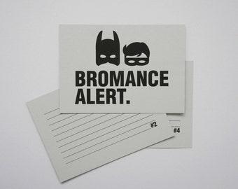 Best Man Speech Cards // Batman & Robin