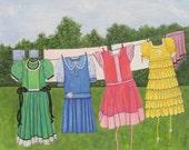 Dresses on Clothes Line O...