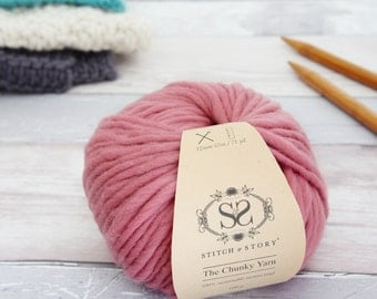 Dust Pink - Chunky Merino Knitting Wool 100g
