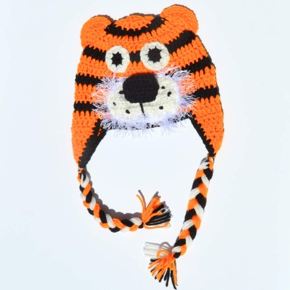 Crochet Tiger Hat Knit Animal Hat Crochet Baby Hat by ToryMakes