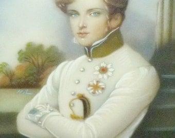 Miniature Portrait Napoleon II Son Of Napoleon Bonaparte Painting On Enamel After Moritz M. Daffinger