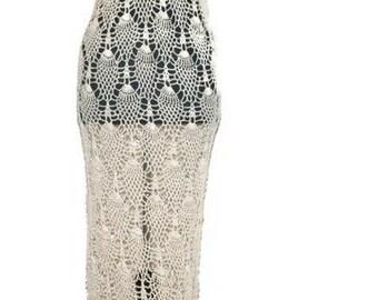 Lace crochet wedding dress, pineapple crochet wedding gown