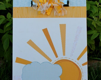 Sunshine and Clouds Clipboard