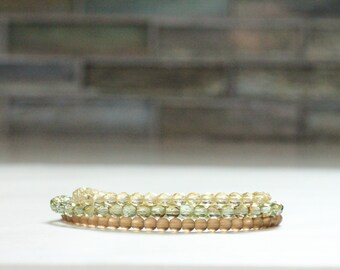 gift idea SET of 3 layering bracelets / summer jewelry gift bracelet / skinny bracelets / stretch bracelets minimalist jewelry #479
