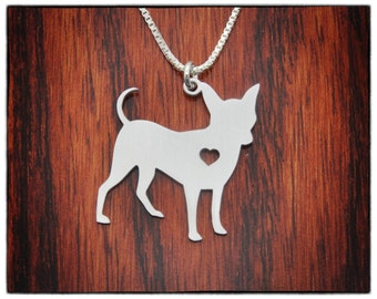 SALE Chihuahua Necklace Sterling Silver Jewelry - Dog Jewelry - Pet Jewelry - Personalized Pets Charm - New Puppy - Custom Dog Necklaces