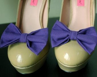 Purple Shoe Bows, Purple Shoe Clips