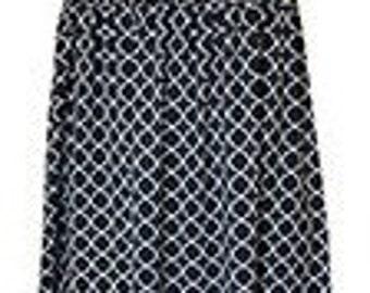 Monogrammed Swimsuit Coverup - Black/White