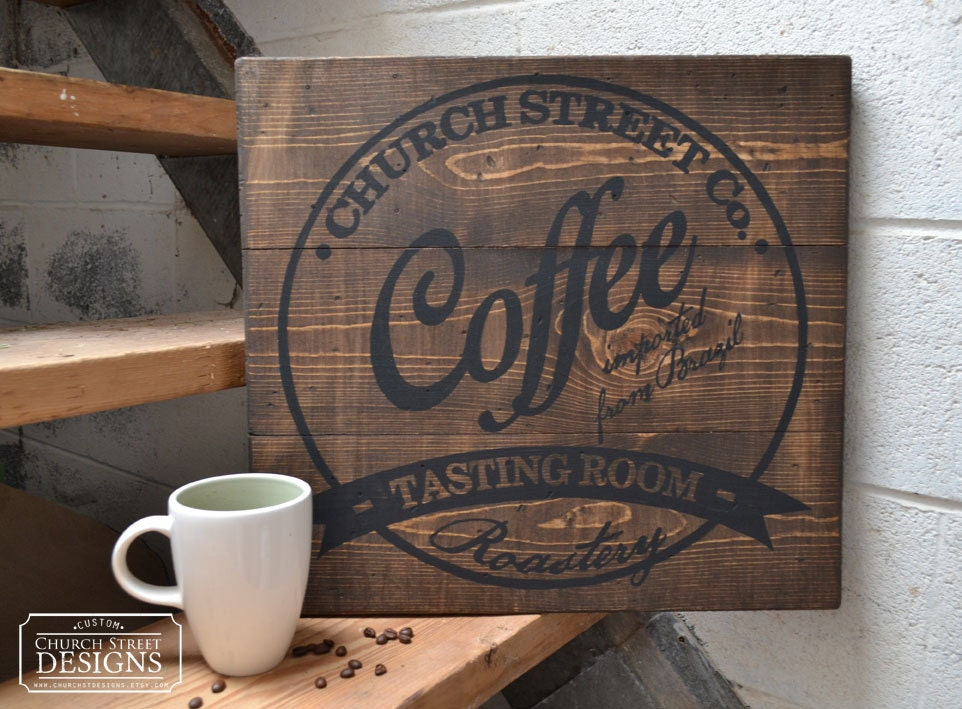 Coffee decor wall art customize this sign with your