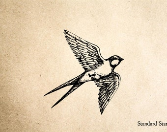 Swallow Rubber Stamp - 2 x 2 inches