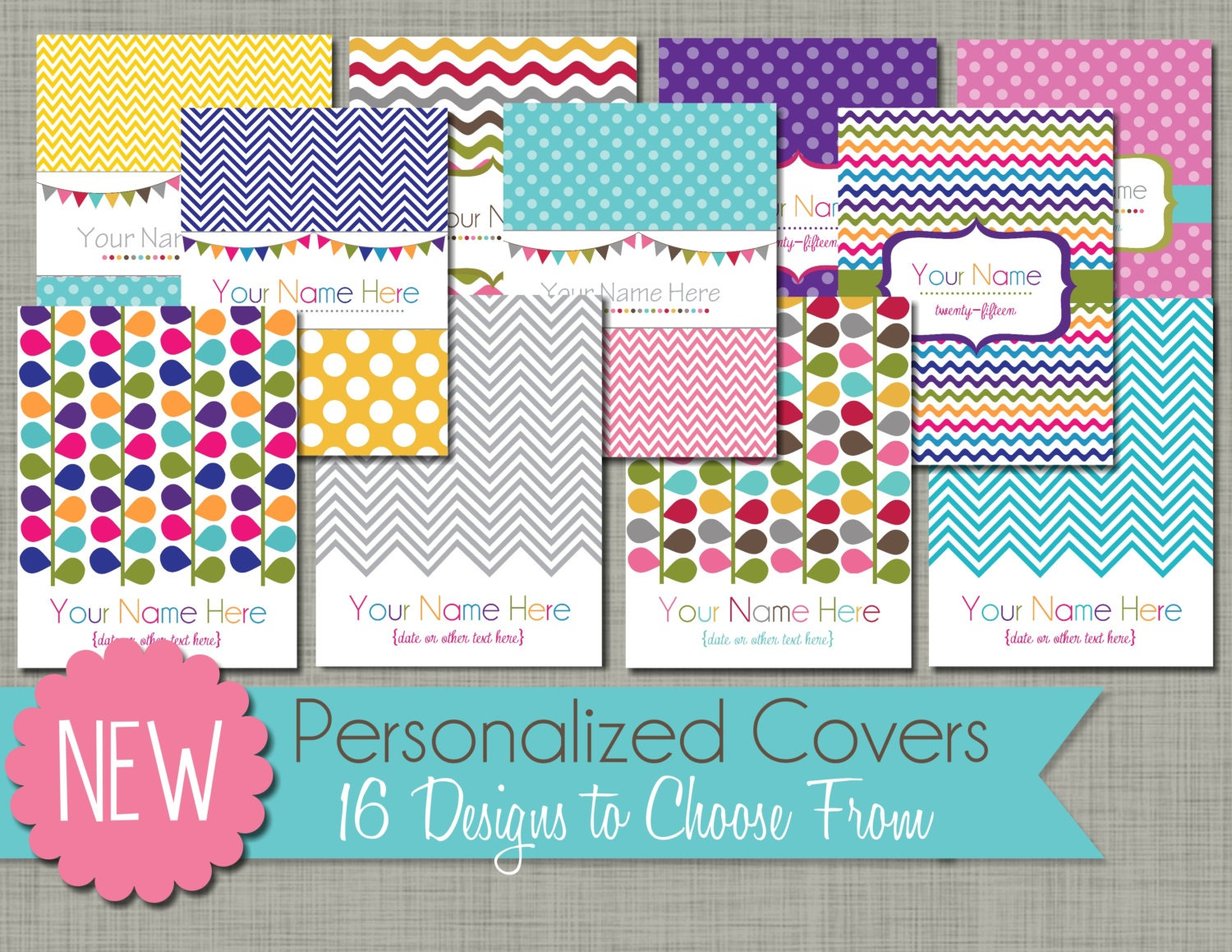 Personalized planner cover page printable pdf for Custom photo planner