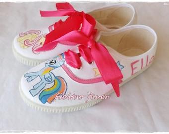 sneakers rainbow dash, sneakers fluttershy, my little pony sneakers, my little pony, rainbow dash, fluttershy