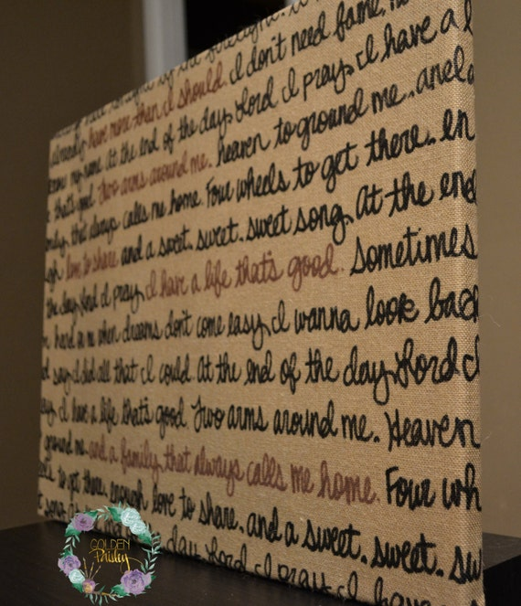 Burlap Wall Hanging Canvas Wedding Vow Decoration Wedding Song