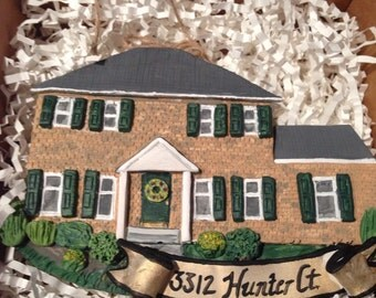 Custom Clay House Ornament Keepsake