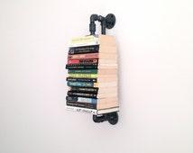 Highland Pipe Wall Shelf - Steel Pipe Wall Shelf - Wall Bookshelf