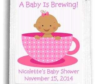 20 Baby Girl Tea Bag Baby Shower Favors