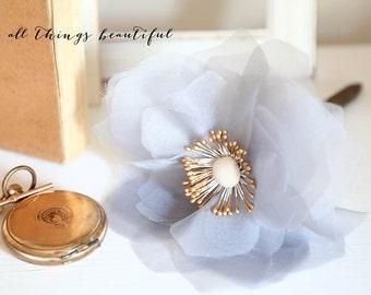 Wedding Pen | Silk Flower | Handmade | Dusty Blue | Marriage Certificate Signing |