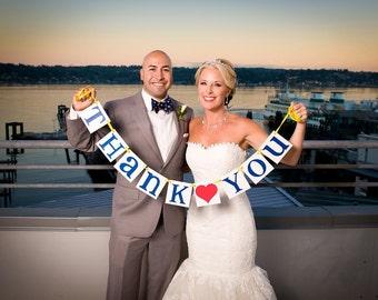 Thank You Banner/ Wedding Garland/ Banner/ Thank You Card/ Photo Prop/ Wedding Thank You / Thanks so much/ Wedding Decoration / Red & Navy