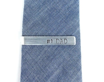tie clips men, first fathers day gift, tie bar personalized, dad gift