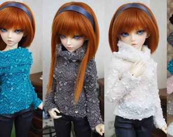 Kawkana - Turtleneck Sweather, Blouse with sequins for MSD, MNF, other 1/4 dollfie - choes your color