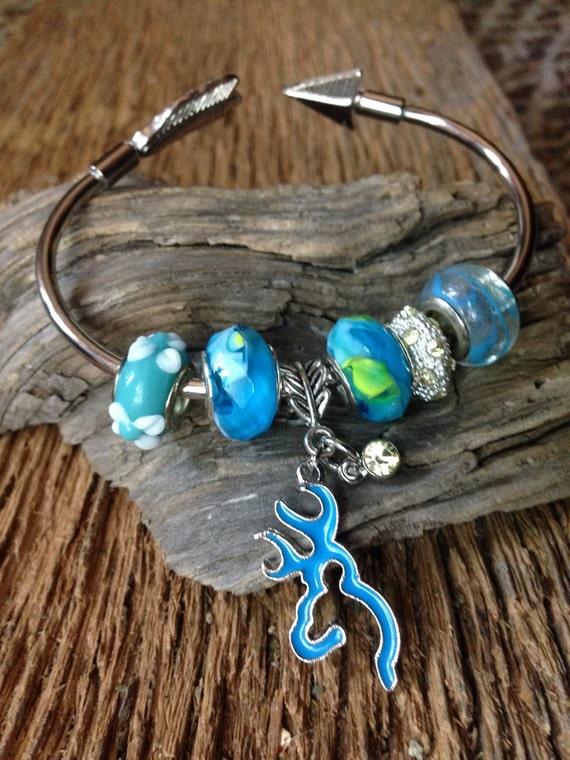 browning deer charm bracelet sky blue deer european bracelet