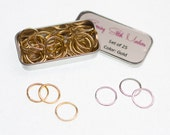 Large Metal Ring Stitch Markers Fits upto US 15 (10mm) - Set of 25, 50 or 100 in choice of 2 Colors