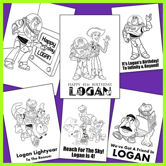 Toy Story Personalized Coloring Book
