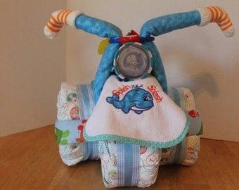 Ocean themed diaper tricycle