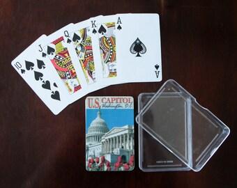 """Vintage playing cards """"Washington DC"""""""